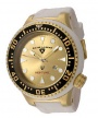 Swiss Legend Neptune Diver Yellow IP Watch 21818 Watches - 21818D-YG-007-WHT Gold Face / White Band