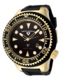 Swiss Legend Neptune Diver Yellow IP Watch 21818 Watches - 21818D-YG-01 Black Face / Black Band