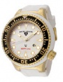 Swiss Legend Neptune Diver Yellow IP Watch 21818 Watches - 21818D-YG-02-BLK White Face / White Band / Black Crown