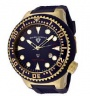 Swiss Legend Neptune Diver Yellow IP Watch 21818 Watches - 21818D-YG-03 Blue Face / Blue Band