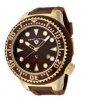 Swiss Legend Neptune Diver Yellow IP Watch 21818 Watches - 21818D-YG-04 Brown Face / Brown Band