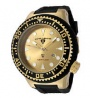 Swiss Legend Neptune Diver Yellow IP Watch 21818 Watches - 21818D-YG-07 Yellow Face / Black Band 