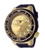 Swiss Legend Neptune Diver Yellow IP Watch 21818 Watches - 21818D-YG-07-BRW Gold Face / Brown Band