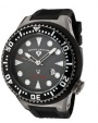 Swiss Legend Neptune Diver Gunmetal IP Watch 21818 Watches - 21818D-GM-014B Gray Face / Black Band
