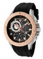 Swiss Legend Evolution IP Bezels Watch 10064 Watches - 10064-01-RB Black Face / Rose Crown