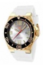 Swiss Legend Expedition Watch 10008-BB Watches - White Face / Yellow Gold Crown / White Band