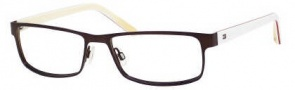Tommy Hilfiger 1127 Eyeglasses Eyeglasses - 04XX Semi Matte Brown / White Yellow