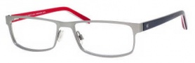 Tommy Hilfiger 1127 Eyeglasses Eyeglasses - 04XK Semi Matte Ruthenium / Red-Blue-White