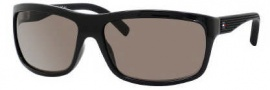 Tommy Hilfiger 1081/S Sunglasses Sunglasses - 0WHV Shiny Black / SP Brown Polarized Lens