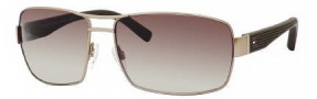 Tommy Hilfiger 1082/S Sunglasses Sunglasses - 0WIB Matte Gold / CC Brown Gradient Lens