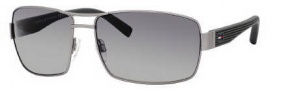 Tommy Hilfiger 1082/S Sunglasses Sunglasses - 0WI9 Semi Matte Ruthenium / DX Dark Gray Shaded Lens