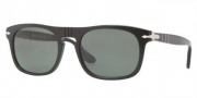 Persol PO3018S Sunglasses  Sunglasses - 95/31 Black / Crystal Green