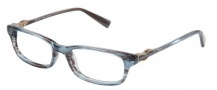 Modo 6004 Eyeglasses Eyeglasses - Blue Grey Stripe