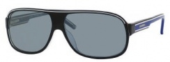 Carrera X-cede 7005/S Sunglasses Sunglasses - T5CP Black Crystal Blue / RT Gray Flash Polarized Lens