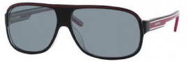 Carrera X-cede 7005/S Sunglasses Sunglasses - T40P Black Red / RT Gray Flash Polarized Lens