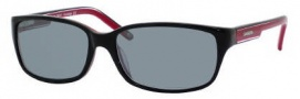 Carrera X-cede 7006/S Sunglasses Sunglasses - T2CP Black Red / RT Gray Flash Polarized Lens