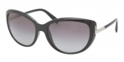 Prada PR 07OS Sunglasses Sunglasses - 1AB3M1 Black / Gray Gradient