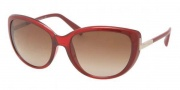 Prada PR 07OS Sunglasses Sunglasses - IAE1Z1 Ruby Transparent Gradient / Ruby Opal Brown Gradient