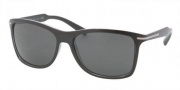 Prada PR 10OS Sunglasses Sunglasses - 2AF1A1 Top Black / Crystal Gray