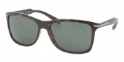 Prada PR 10OS Sunglasses Sunglasses - 2AU3O1 Havana / Green