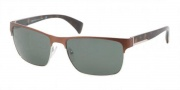 Prada PR 51OS Sunglasses Sunglasses - GAP3O1 Brown Demi Shiny / Gunmetal Green