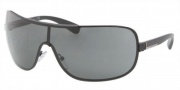 Prada PR 54OS Sunglasses Sunglasses - 1BO1A1 Matte Black / Gray