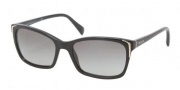 Prada PR 02OS Sunglasses Sunglasses - 1AB3M1 Black / Gray Gradient