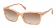 Prada PR 02OS Sunglasses Sunglasses - HA01Z1 Top Pink / Opal Pink Brown Gradient