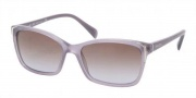 Prada PR 02OS Sunglasses Sunglasses - HA16P1 Opal Violet / Brown Gradient Violet