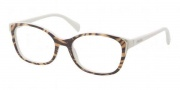 Prada PR 13OV Eyeglasses Eyeglasses - GAB1O1 Top Yellow Dirty White