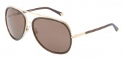 Dolce & Gabbana DG2098 Sunglasses Sunglasses - 108673 Gold / Brown