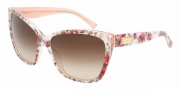 Dolce & Gabbana DG4111 Sunglasses Sunglasses - 179013 Flower - Pink / Brown Gradient