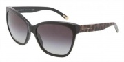 Dolce & Gabbana DG4114 Sunglasses Sunglasses - 25258G Black / Gray Gradient