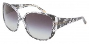 Dolce & Gabbana DG4116 Sunglasses Sunglasses - 19018G Black Lace / Gray Gradient