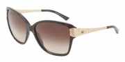 Dolce & Gabbana DG4131 Sunglasses Sunglasses - 196513 Brown Marble / Brown Gradient