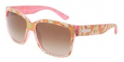 Dolce & Gabbana DG6063 Sunglasses Sunglasses - 250613 Sicilian Carretto Pink / Brown Gradient