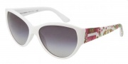 Dolce & Gabbana DG6064 Sunglasses Sunglasses - 25088G White / Gray Gradient