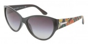 Dolce & Gabbana DG6064 Sunglasses Sunglasses - 25108G Dark Gray / Transparent Gray Gradient