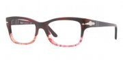 Persol PO3011V Eyeglasses Eyeglasses - 950 Dark Red Traansparent