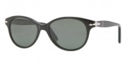 Persol PO3017S Sunglasses Sunglasses - 95/58 Black Crystal / Green Polarized