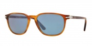 Persol PO3019S Sunglasses Sunglasses - 96/56 Light Havana / Crystal Blue