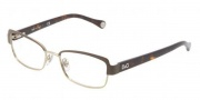 D&G DD5102 Eyeglasses Eyeglasses - 1101 Brown Pale Gold