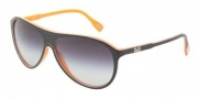 D&G DD3075 Sunglasses Sunglasses - 19468G Top Black on Orange / Gray Gradient