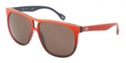 D&G DD3076 Sunglasses Sunglasses - 197073 Orange Gradient on Blue / Brown