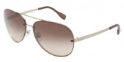 D&G DD6086 Sunglasses Sunglasses - 110713 Matte Pale Gold / Brown Gradient