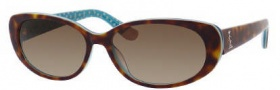 Juicy Couture Juicy 524/S Sunglasses Sunglasses - 0RG4 Tortoise Aqua (Y6 Brown Gradient Lens)