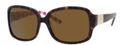 Kate Spade Lulu 2/P/S Sunglasses Sunglasses - JUGP Tortoise Pink Octagon (VW Brown Polarized Lens)