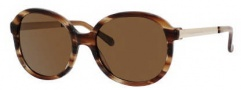 Kate Spade Albertine/P/S Sunglasses Sunglasses - 1N6P Striated Brown (VW Brown Polarized Lens)