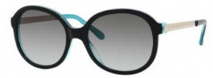 Kate Spade Albertine/S Sunglasses Sunglasses - 0DH4 Black Turquoise (Y7 Gray Gradient Lens)