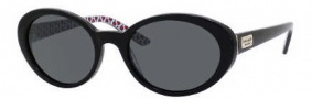 Kate Spade Alathea/P/S Sunglasses Sunglasses - CX1P Black Red (RA Gray Polarized Lens)